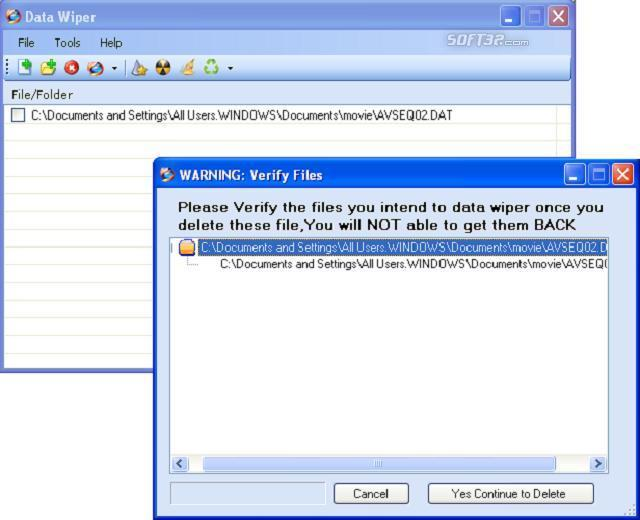 File Wiper Software Screenshot 1