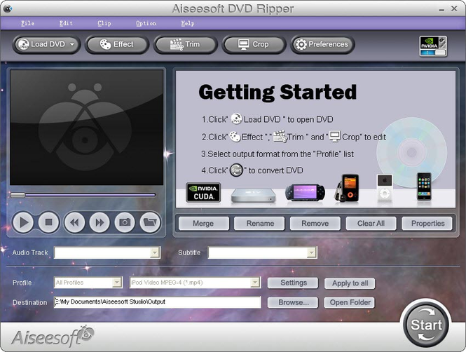 Aiseesoft DVD Ripper Screenshot 1