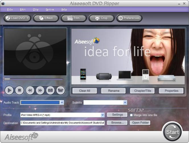 Aiseesoft DVD Ripper Screenshot 2