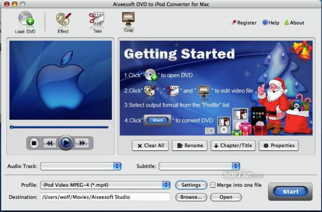 Aiseesoft DVD to iPod Converter for Mac Screenshot 3