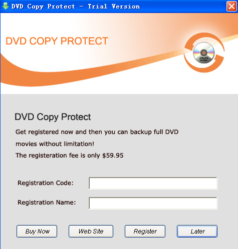 DVD Copy Protect Screenshot