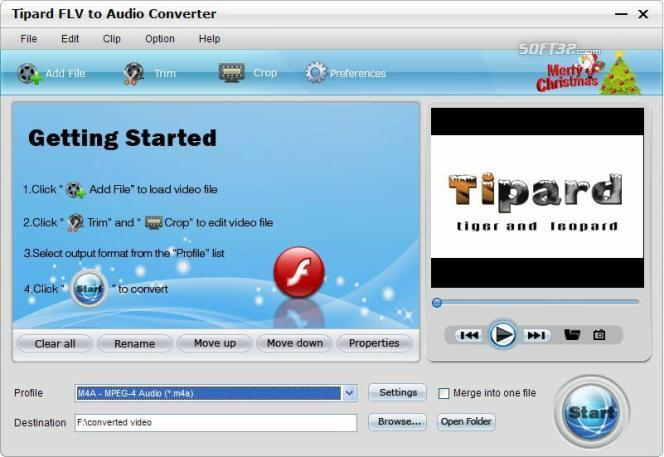 Tipard FLV to Audio Converter Screenshot 3