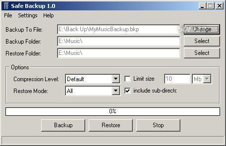 Safe Backup Screenshot 1