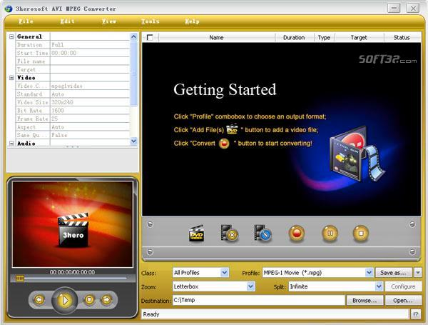 3herosoft AVI MPEG Converter Screenshot 3