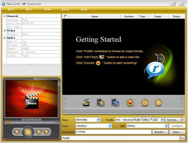 3herosoft RM Converter Screenshot 3