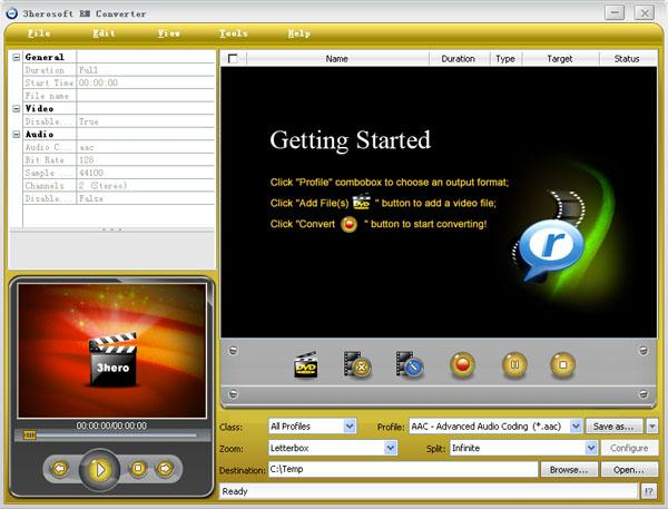 3herosoft RM Converter Screenshot 1