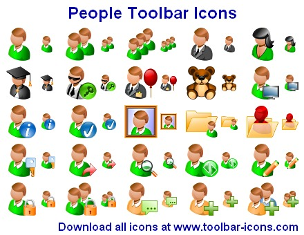 People Toolbar Icons Screenshot
