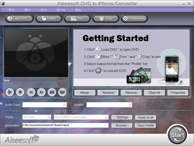 Aiseesoft DVD to iPhone Converter Screenshot 2