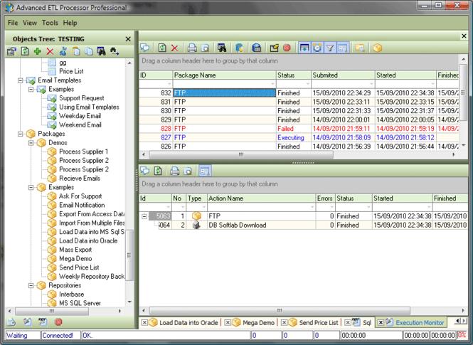 Advanced ETL Processor Professional Screenshot 1