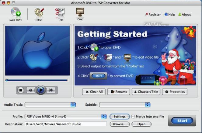 Aiseesoft DVD to PSP Converter for Mac Screenshot 3
