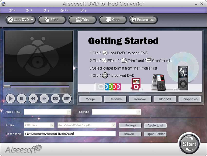 Aiseesoft DVD to iPod Converter Screenshot 2