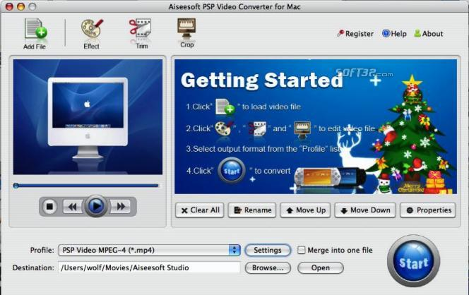 Aiseesoft PSP Video Converter for Mac Screenshot 3
