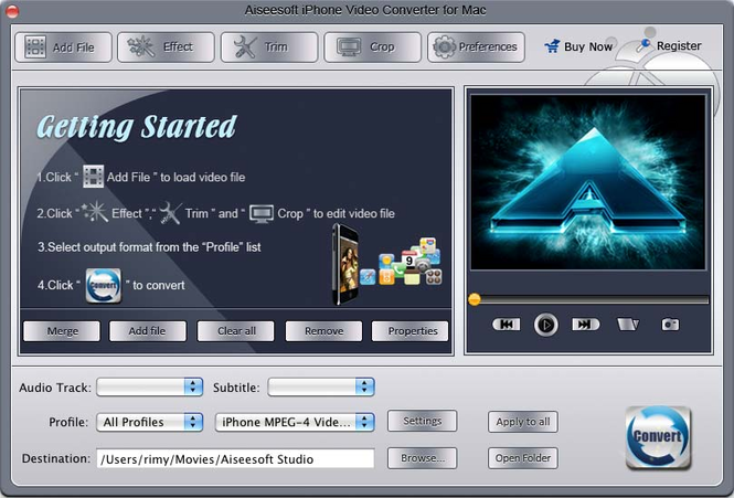Aiseesoft iPhone Video Converter for Mac Screenshot 2