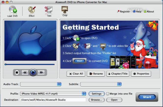 Aiseesoft DVD to iPhone for Mac Screenshot 4