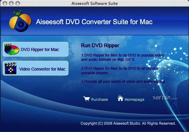 Aiseesoft DVD Converter Suite for Mac Screenshot 4