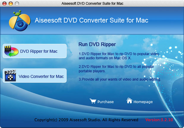 Aiseesoft DVD Converter Suite for Mac Screenshot 1
