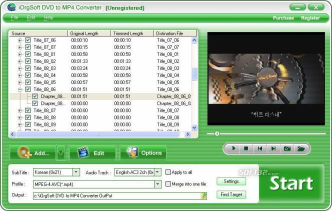 iOrgSoft DVD to MP4 Converter Screenshot 3