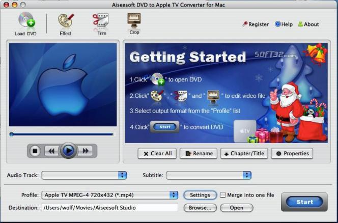Aiseesoft DVD to Apple TV for mac Screenshot 2