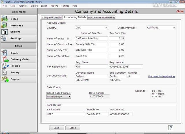 Purchase Order Software Screenshot 2