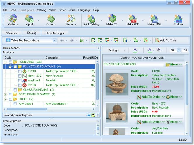 MyBusinessCatalog Platinum Professional License Screenshot