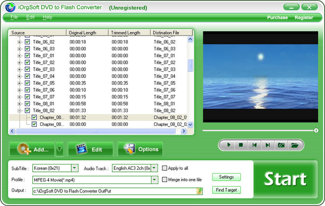 iOrgSoft DVD to Flash Converter Screenshot