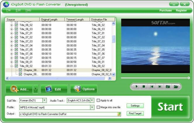 iOrgSoft DVD to Flash Converter Screenshot 2