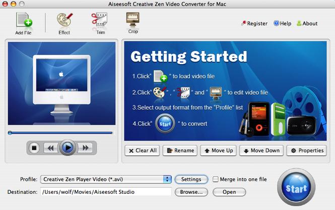 Aiseesoft Creative Zen for mac Screenshot 1