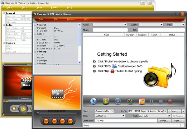 3herosoft DVD to Audio Suite Screenshot