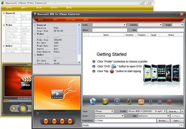3herosoft DVD to iPhone Suite Screenshot 3