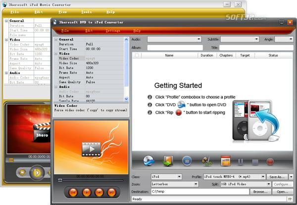 3herosoft DVD to iPod Suite Screenshot 2