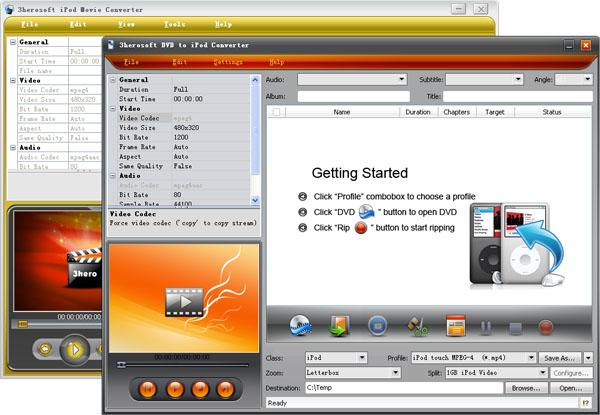 3herosoft DVD to iPod Suite Screenshot