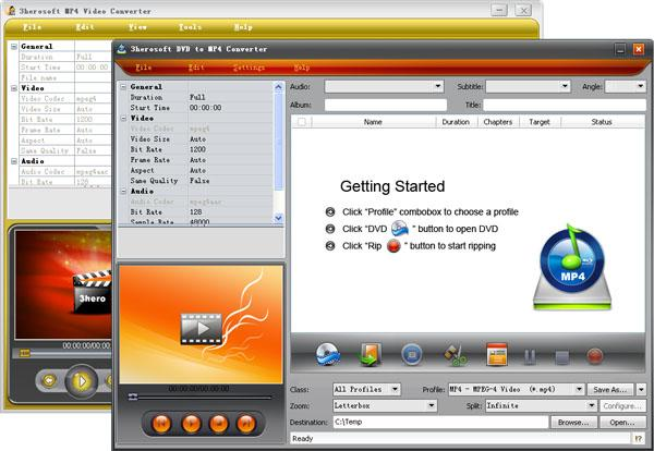 3herosoft DVD to MP4 Suite Screenshot