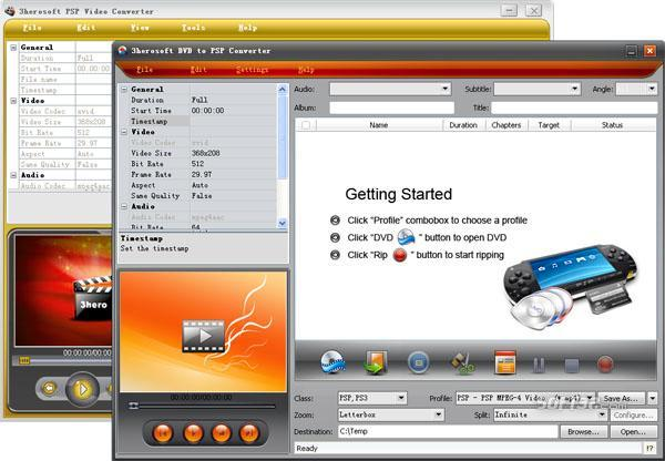 3herosoft DVD to PSP Suite Screenshot 2