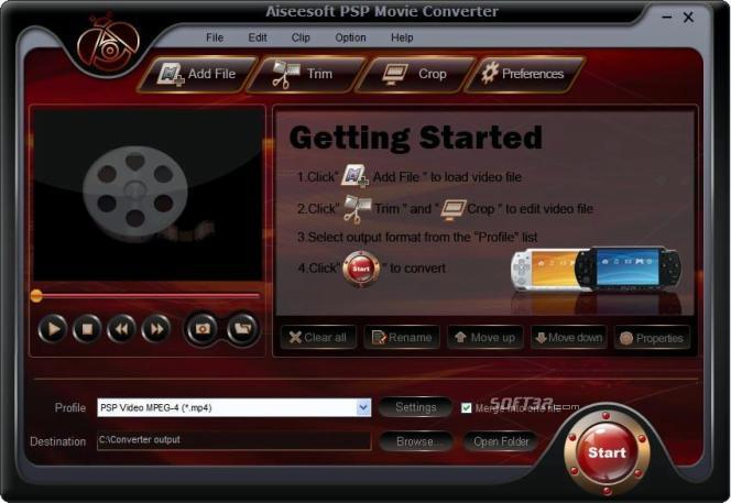 Aiseesoft PSP Movie Converter Screenshot 2
