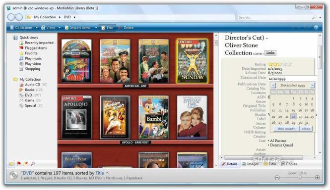 MediaMan Library Screenshot 3