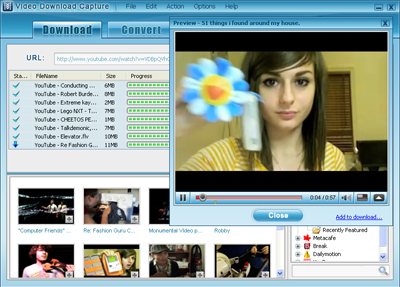 Video Download Capture Screenshot 1
