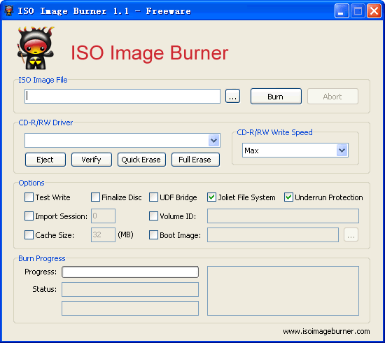 ISO Image Burner Screenshot