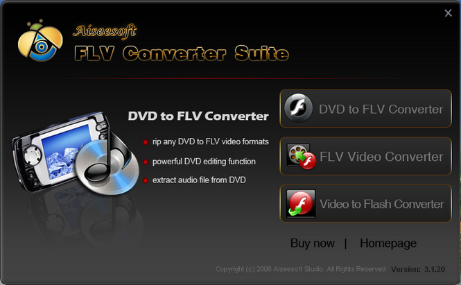 Aiseesoft FLV Converter Suite Screenshot 1