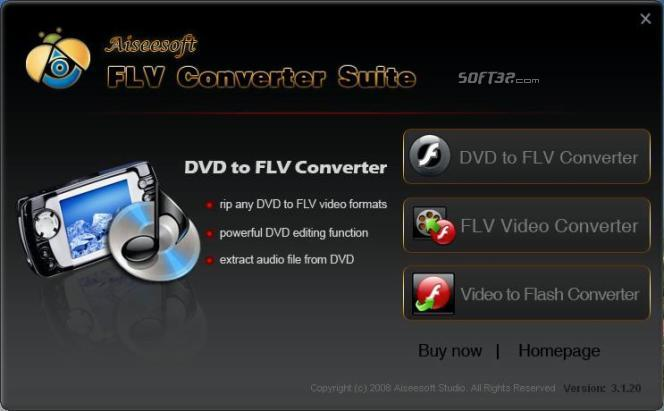 Aiseesoft FLV Converter Suite Screenshot 3