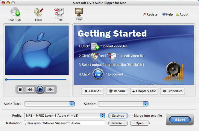 Aiseesoft DVD Audio Ripper for Mac Screenshot