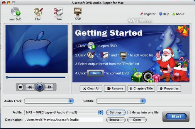 Aiseesoft DVD Audio Ripper for Mac Screenshot 3