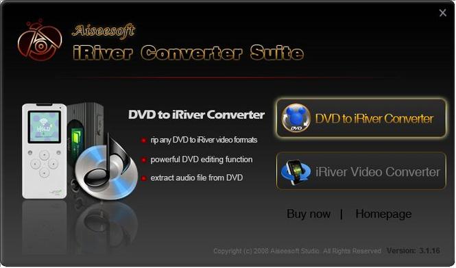 Aiseesoft iRiver Converter Suite Screenshot