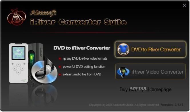 Aiseesoft iRiver Converter Suite Screenshot 3