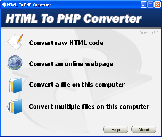 HTML To PHP Converter Screenshot 2