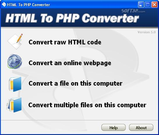 HTML To PHP Converter Screenshot 3