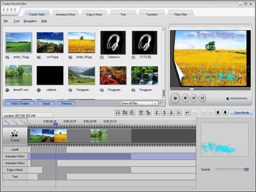 FoxArc Movie Editor Screenshot