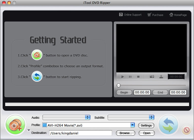 iTool DVD Ripper for MAC Screenshot