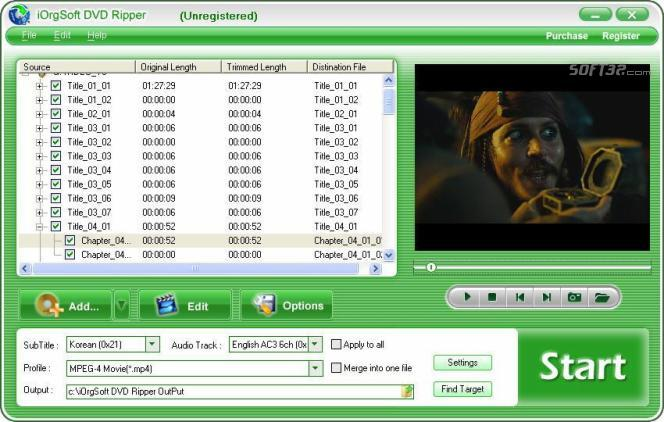 iOrgSoft DVD Ripper Screenshot 3