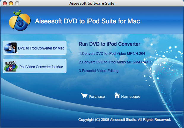 Aiseesoft DVD to iPod Suite for Mac Screenshot 2