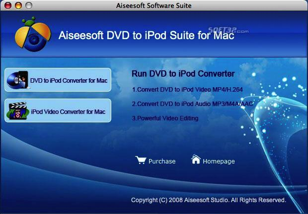Aiseesoft DVD to iPod Suite for Mac Screenshot 3